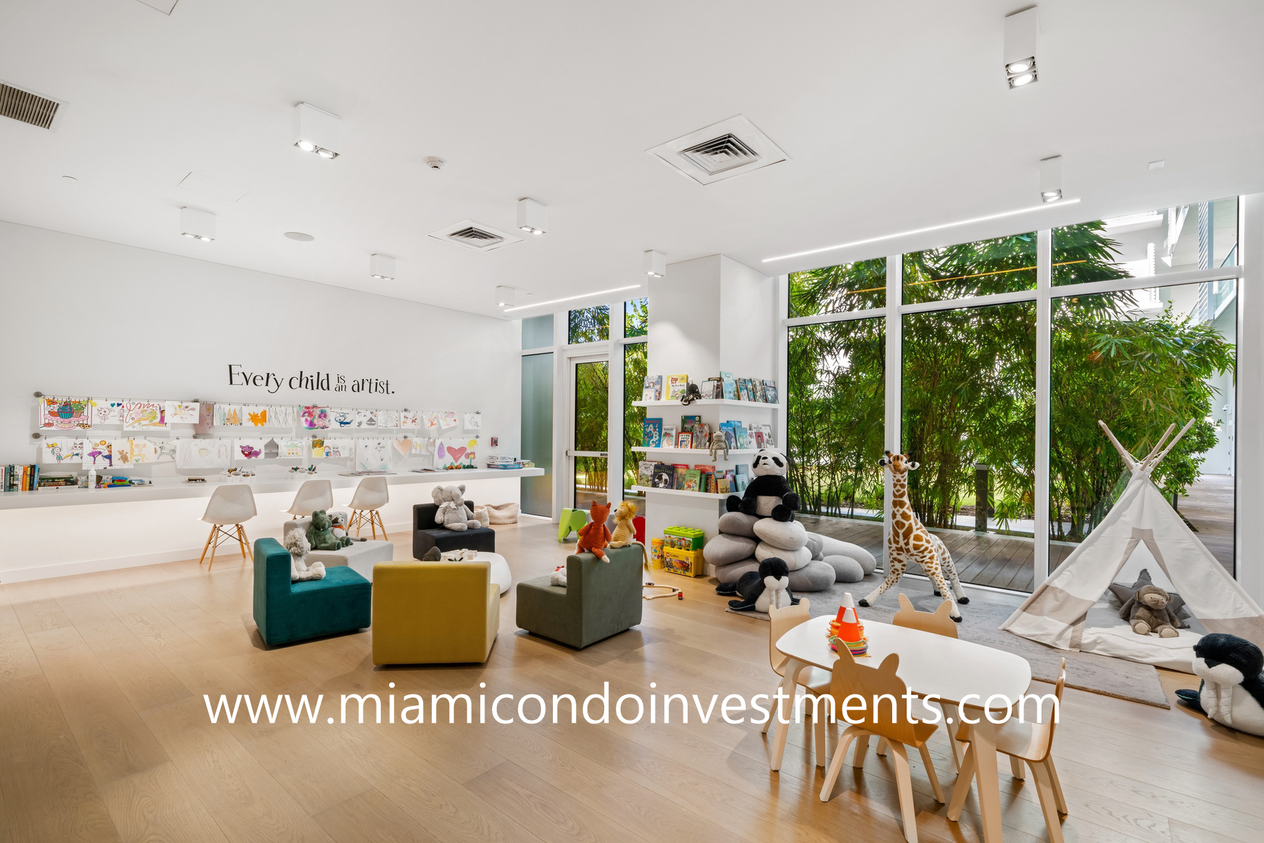 children's playroom at Ritz-Carlton Residences Miami Beach