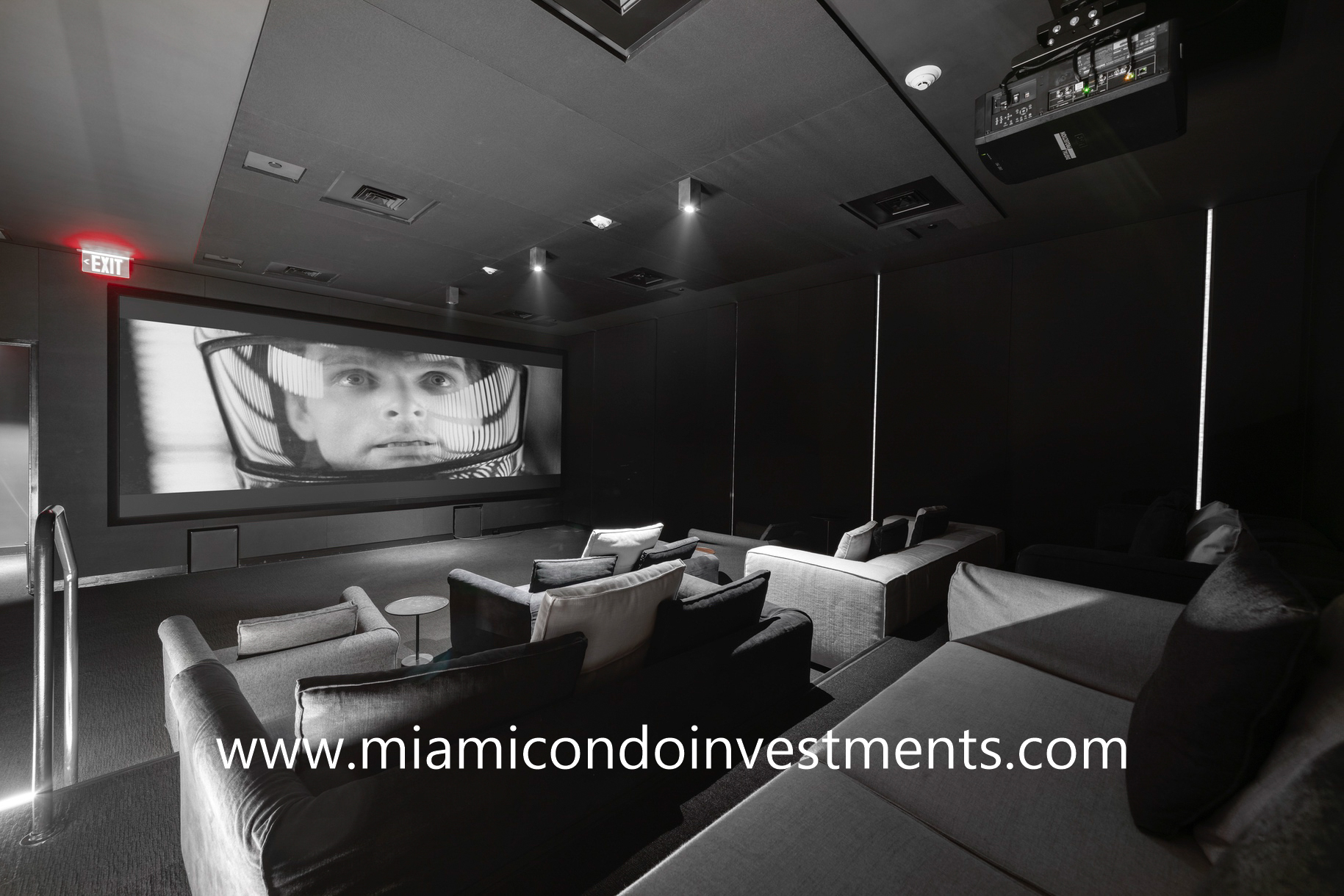 movie theater at Ritz-Carlton Residences Miami Beach