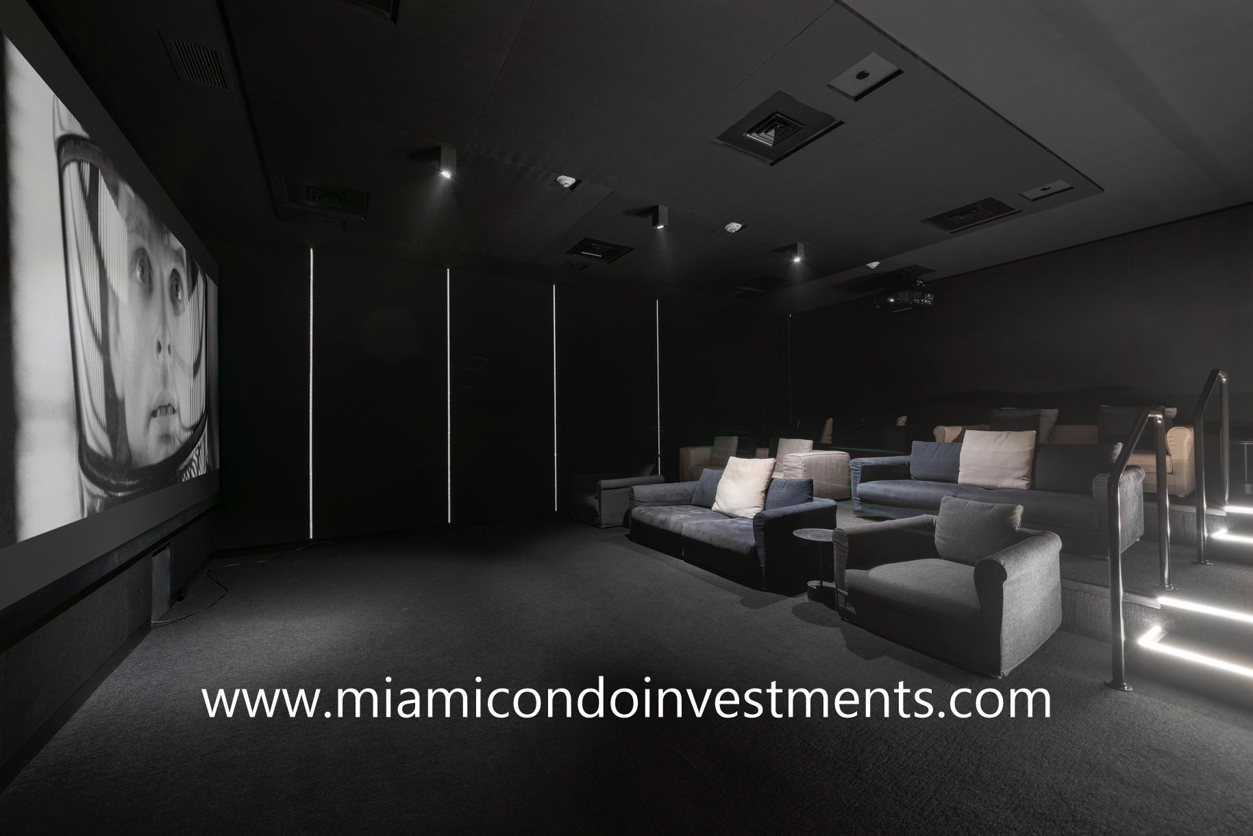 Ritz-Carlton Residences Miami Beach movie theater