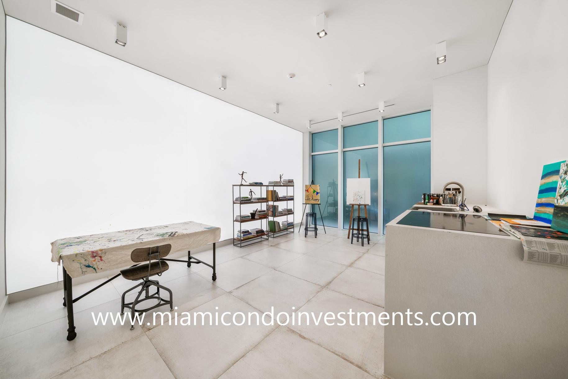 art room at Ritz-Carlton Residences Miami Beach