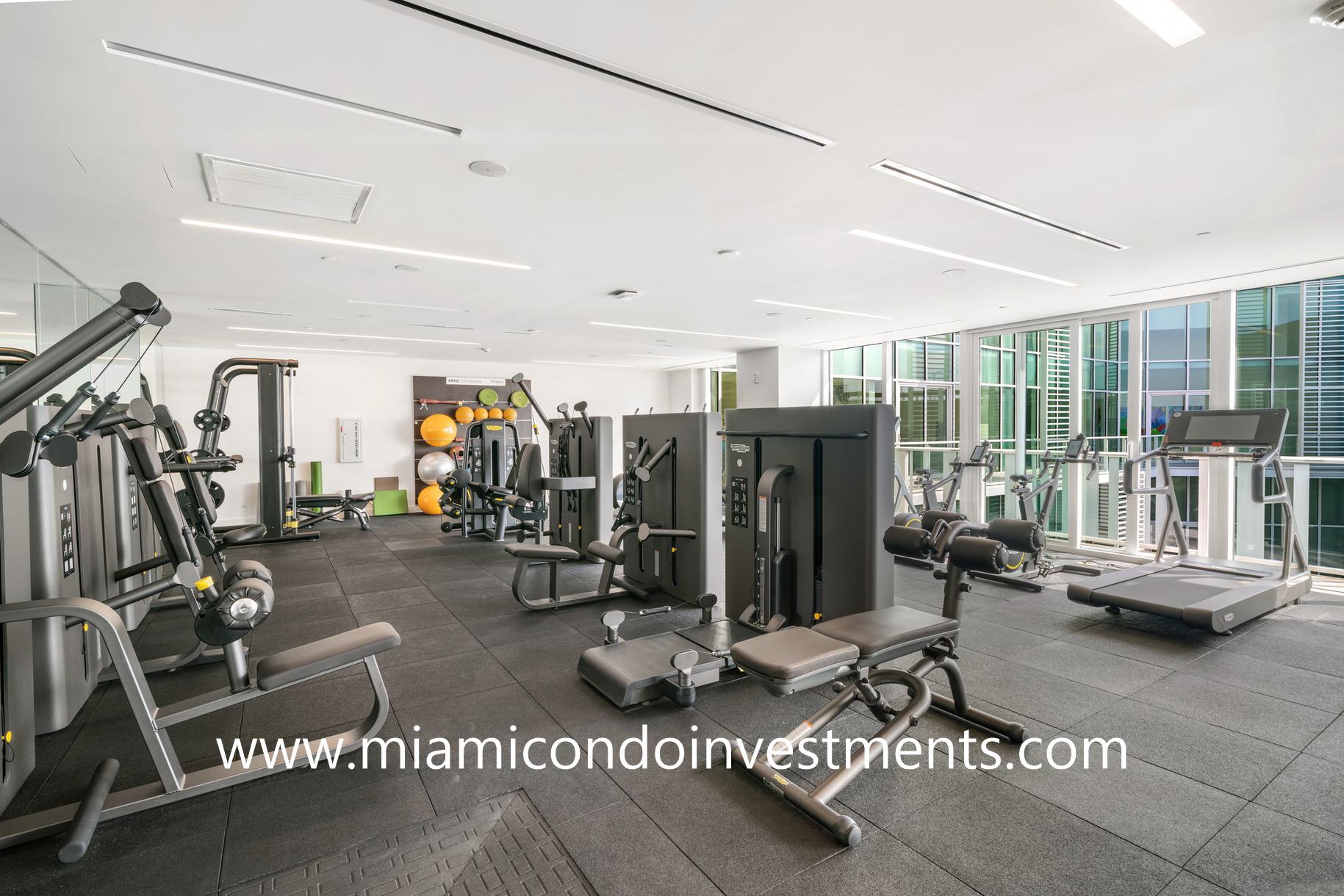 fitness center at Ritz-Carlton Residences Miami Beach
