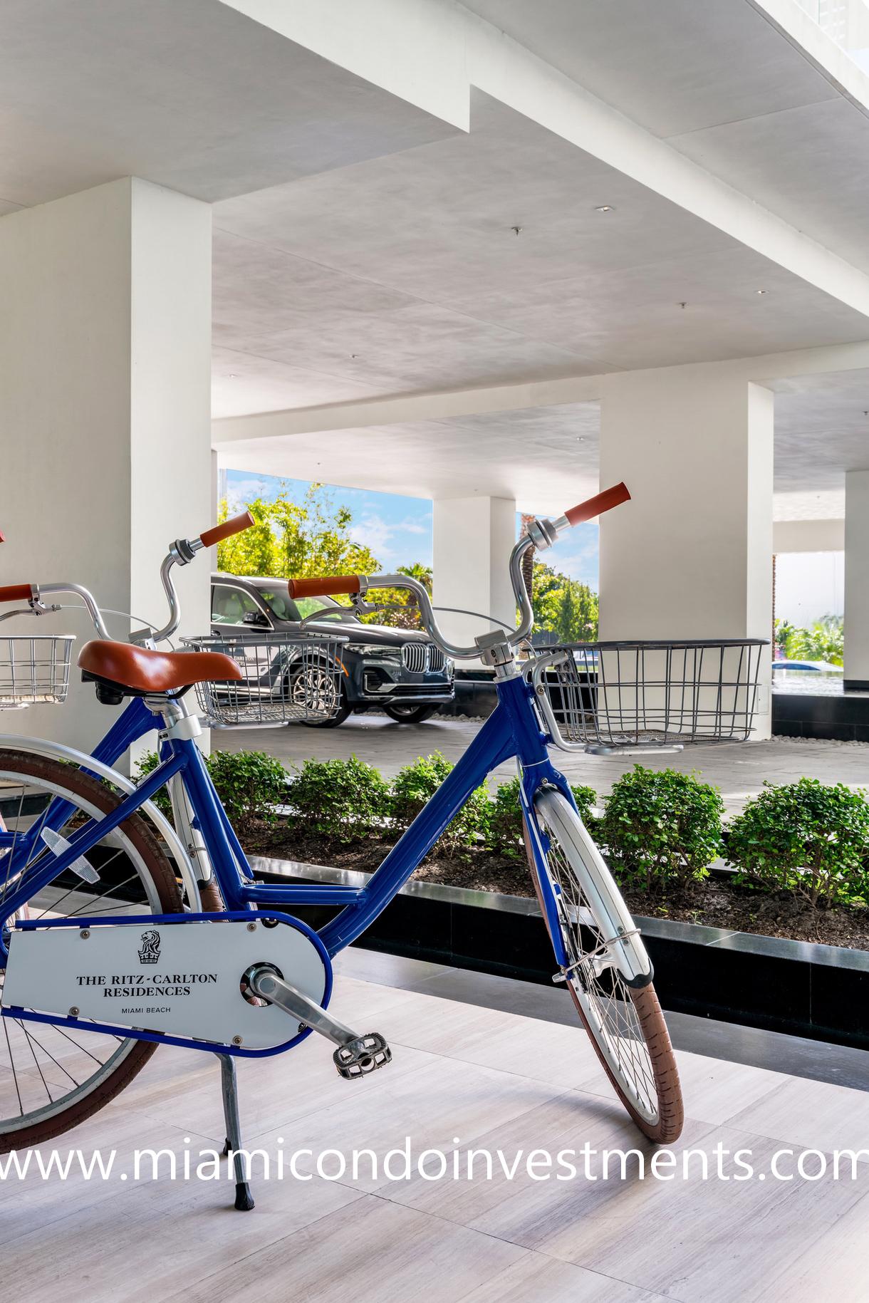 house bicycles at Ritz-Carlton Residences Miami Beach