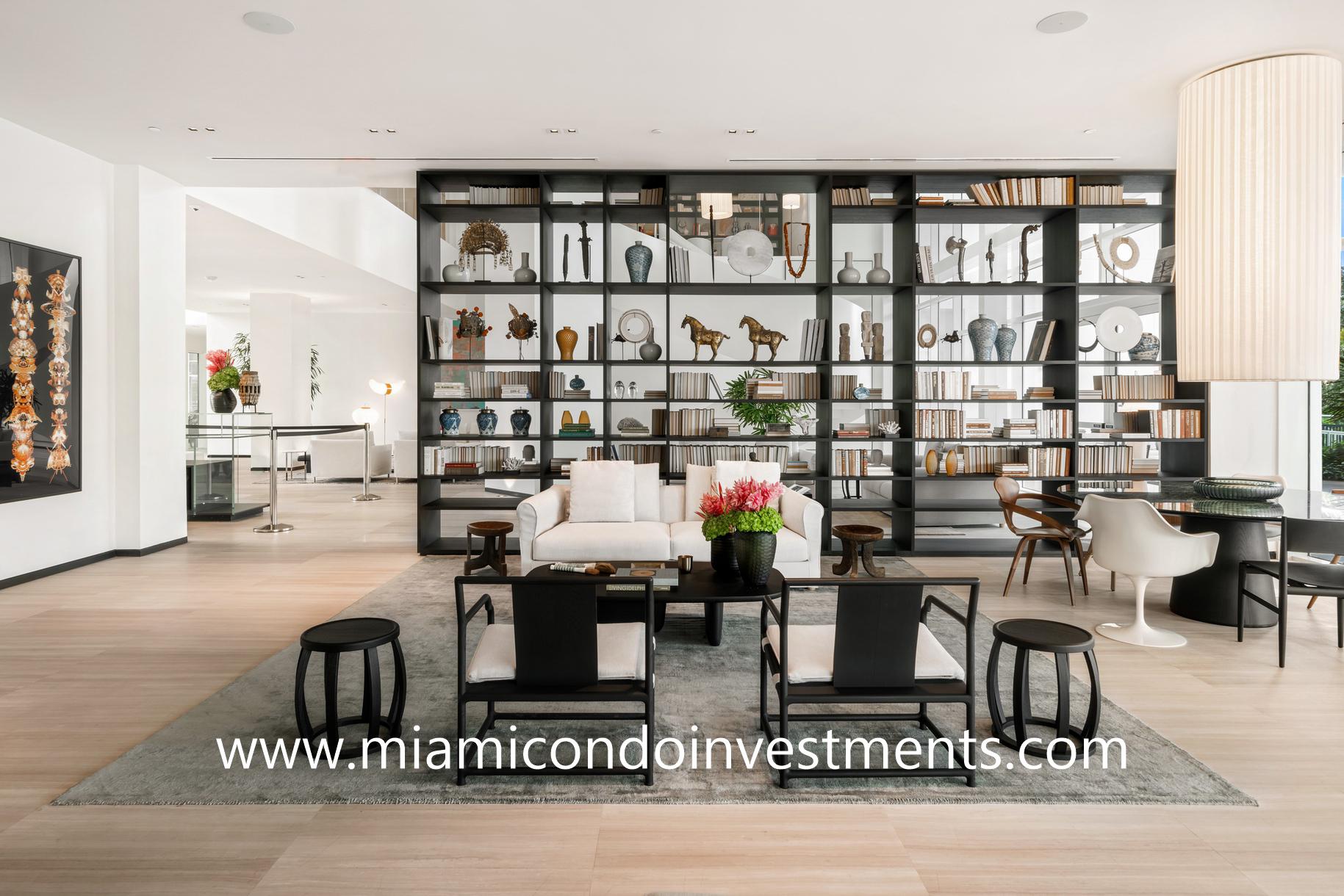 Ritz-Carlton Residences Miami Beach lounge area