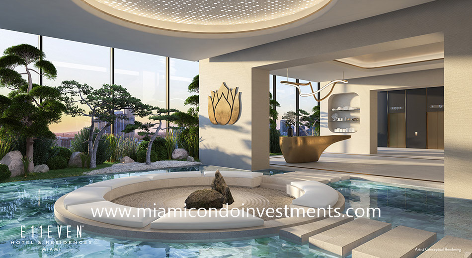plunge pools at E11even Hotel & Residences