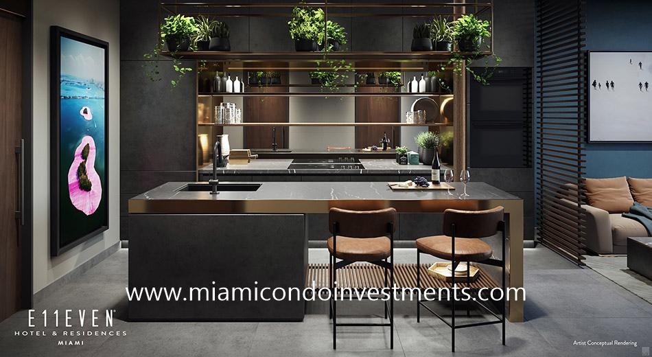 kitchen - E11even Hotel & Residences