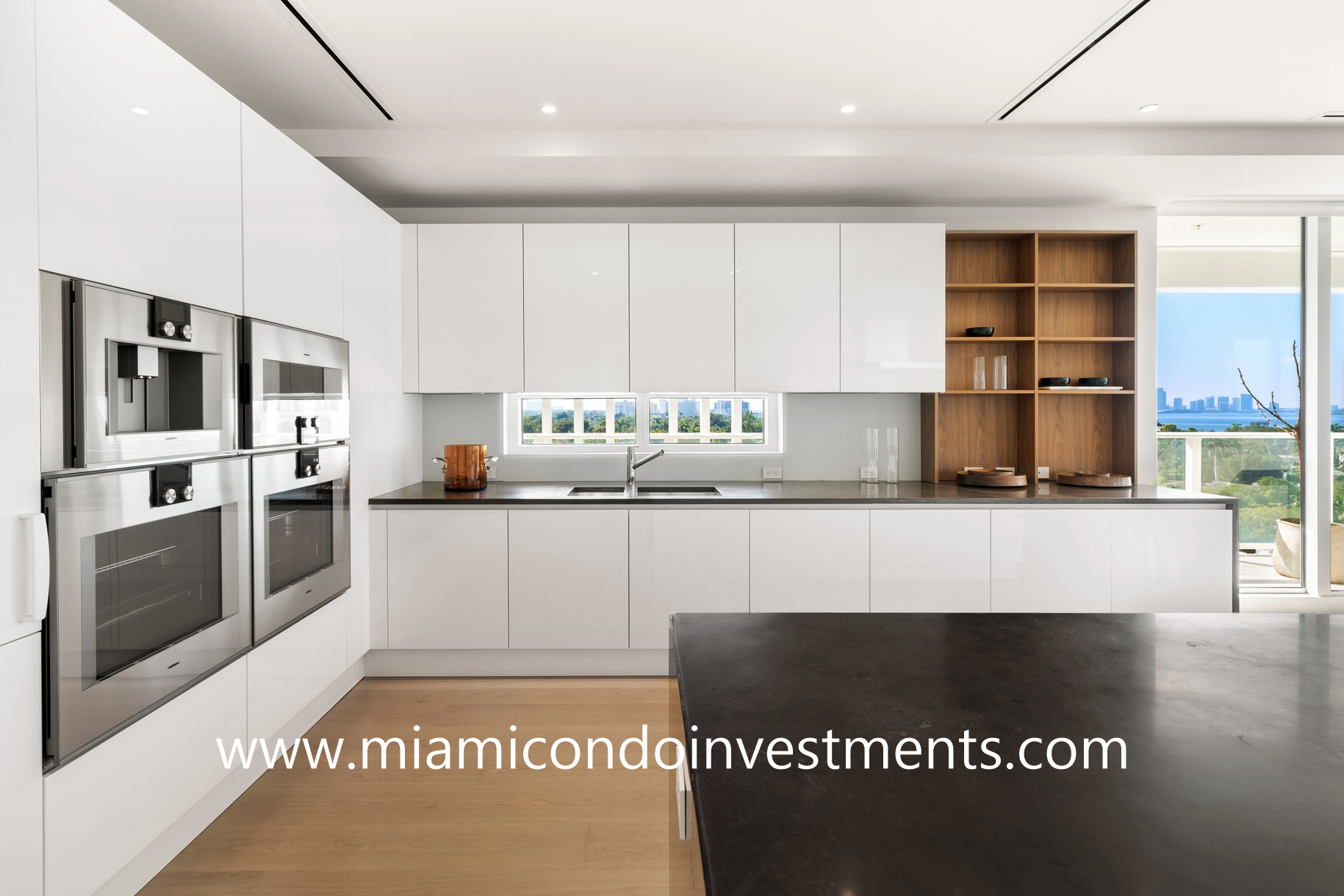 Boffi kitchen at The Ritz-Carlton Residences Miami Beach
