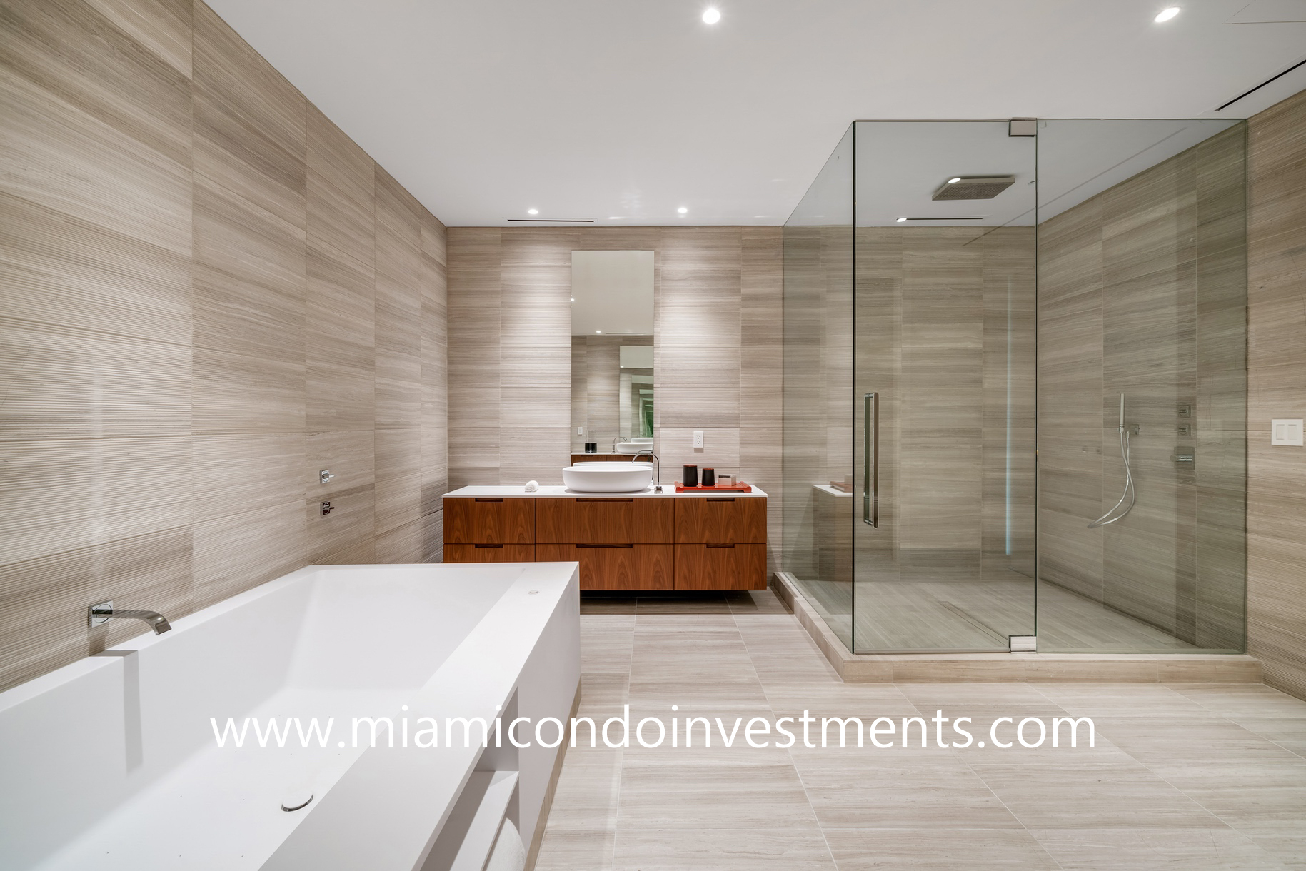master bathroom at The Ritz-Carlton Residences Miami Beach