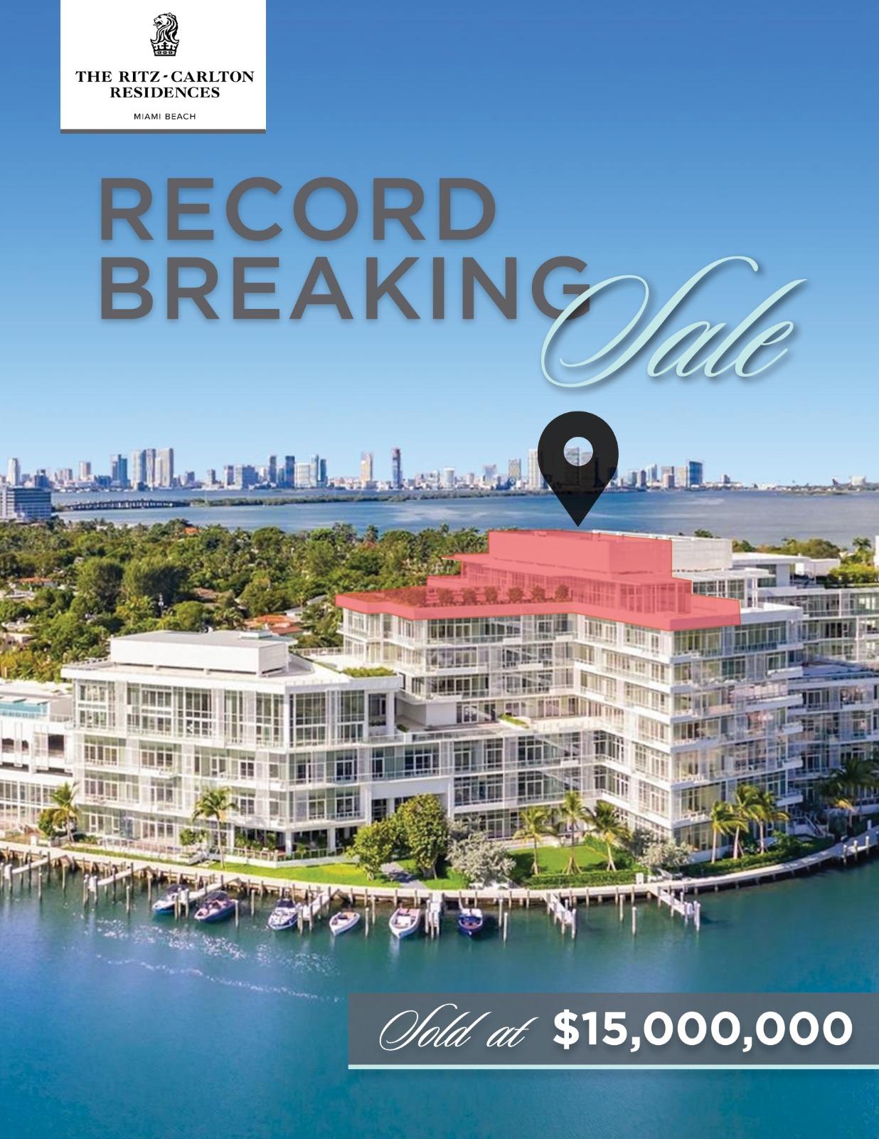 The Ritz-Carlton Residences Miami Beach record-breaking sale - Penthouse 12