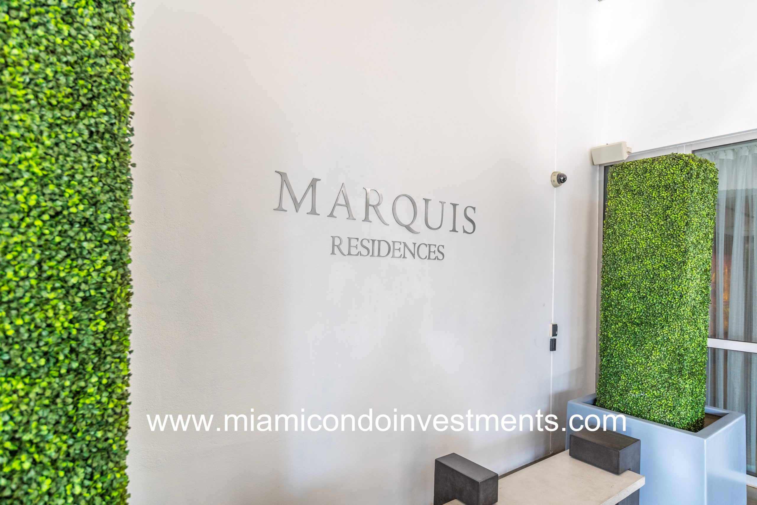 Front Entrance of the Marquis Residences of Miami.