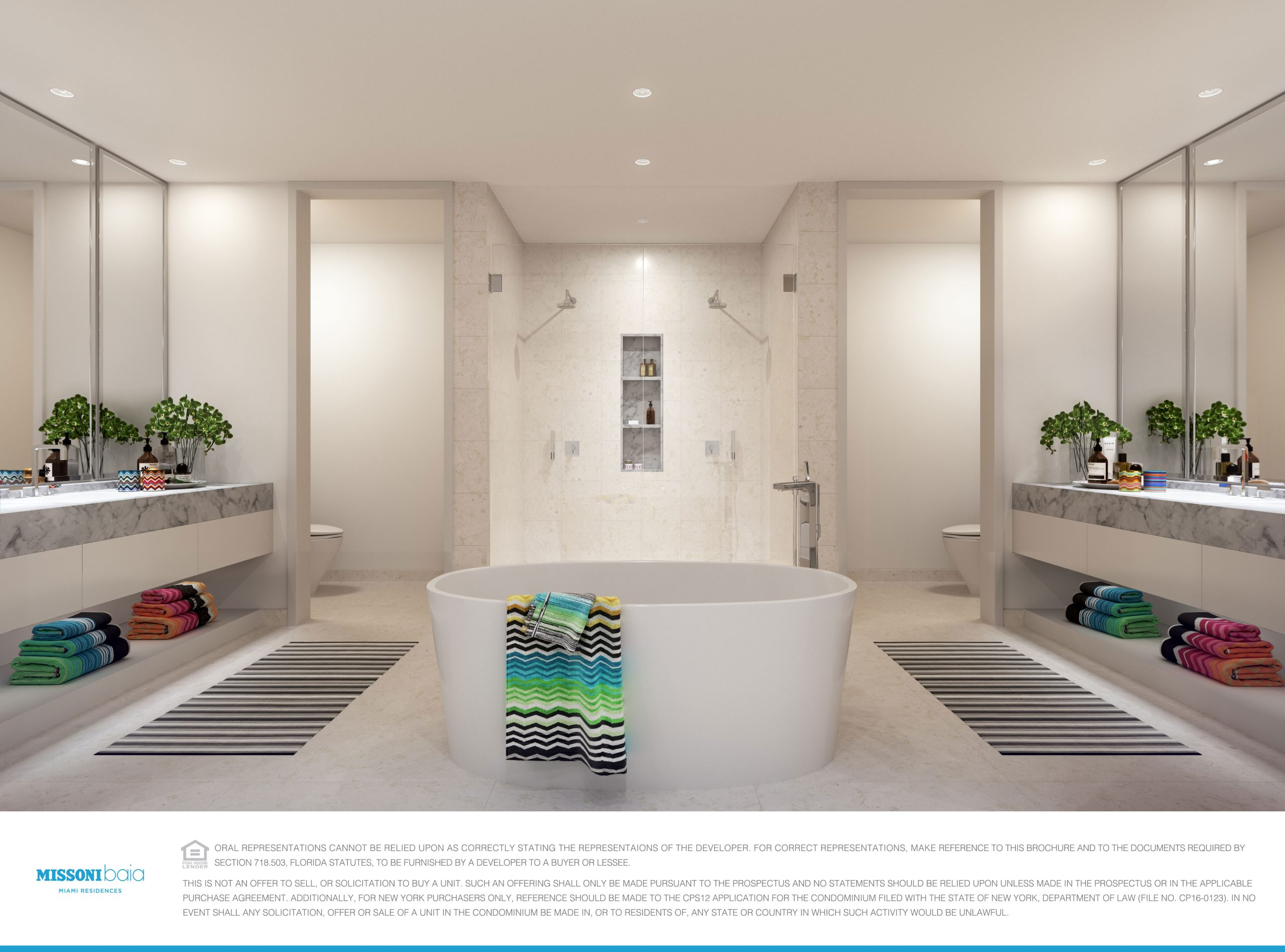 Master Bathroom at the Missoni Bai in Miami.
