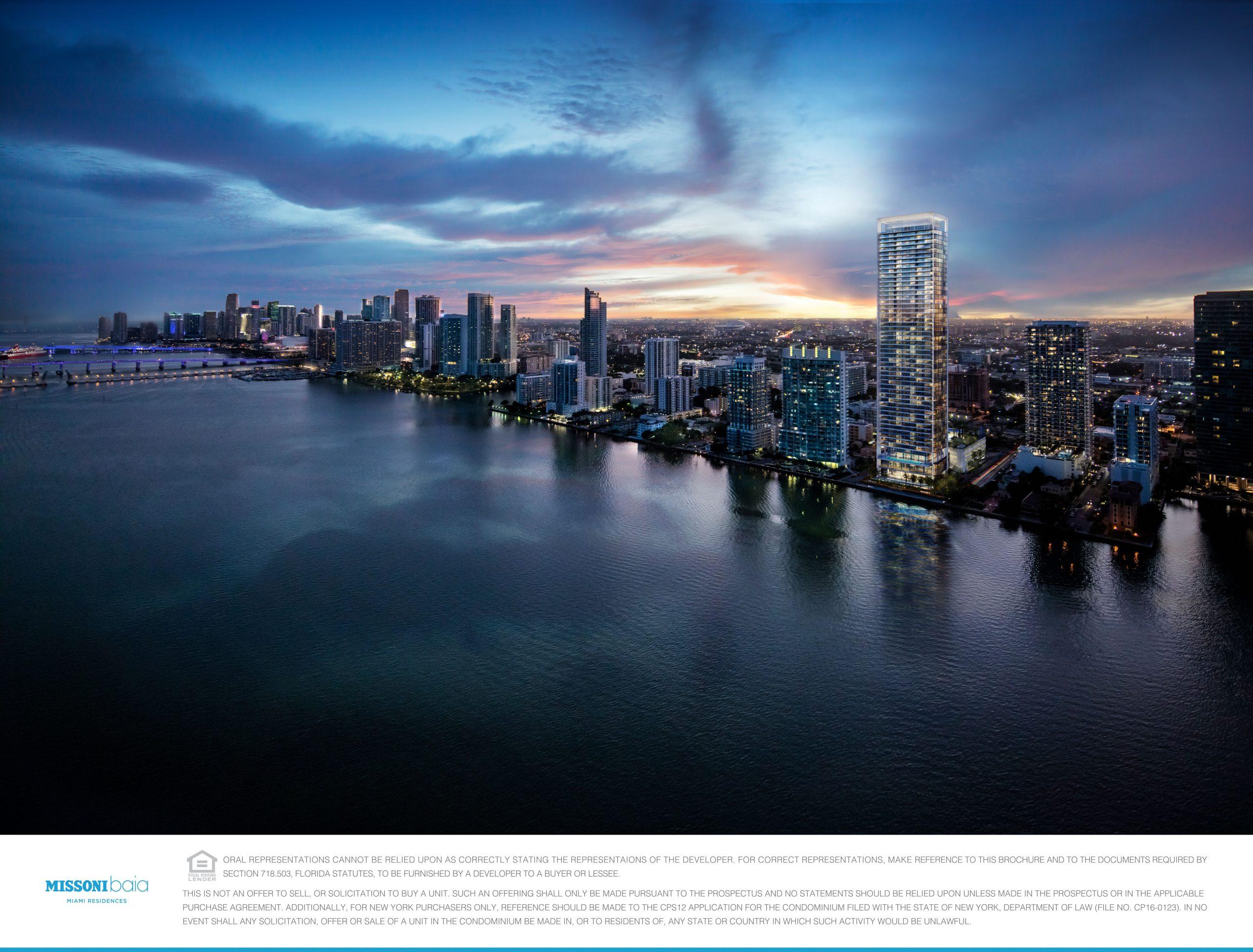 Skyline view at Missoni Baia in Miami.