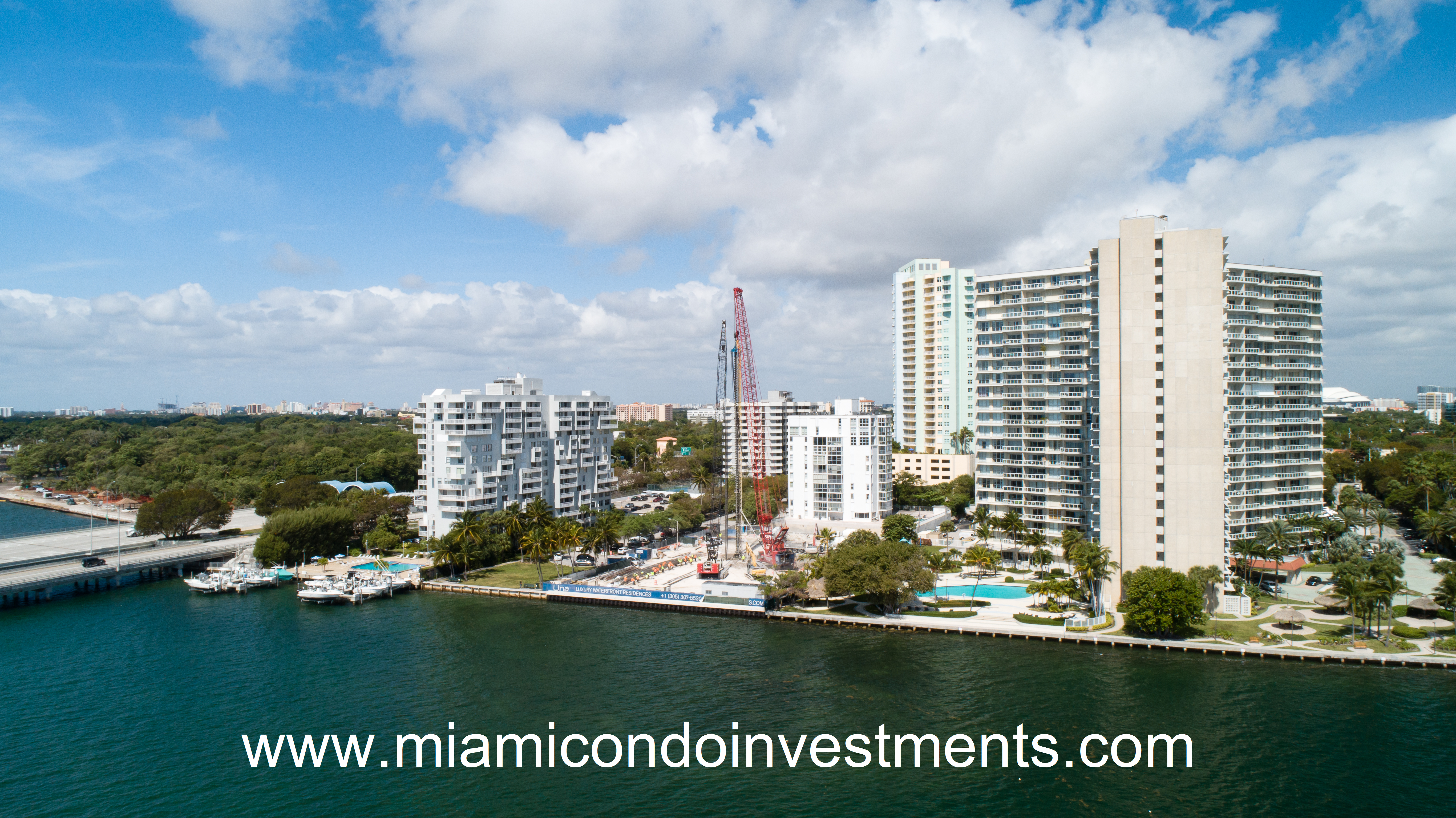 UNA Residences-View from Biscayne Bay.