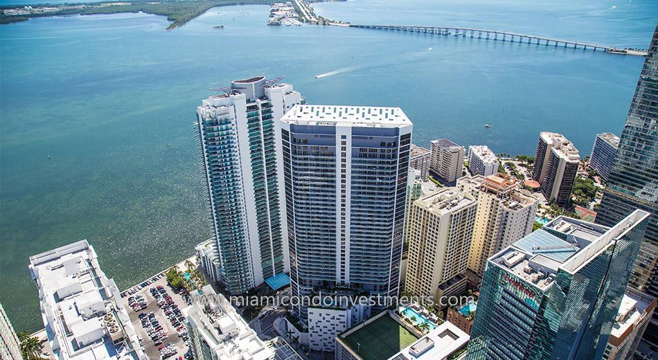 Brickell House Aerial View