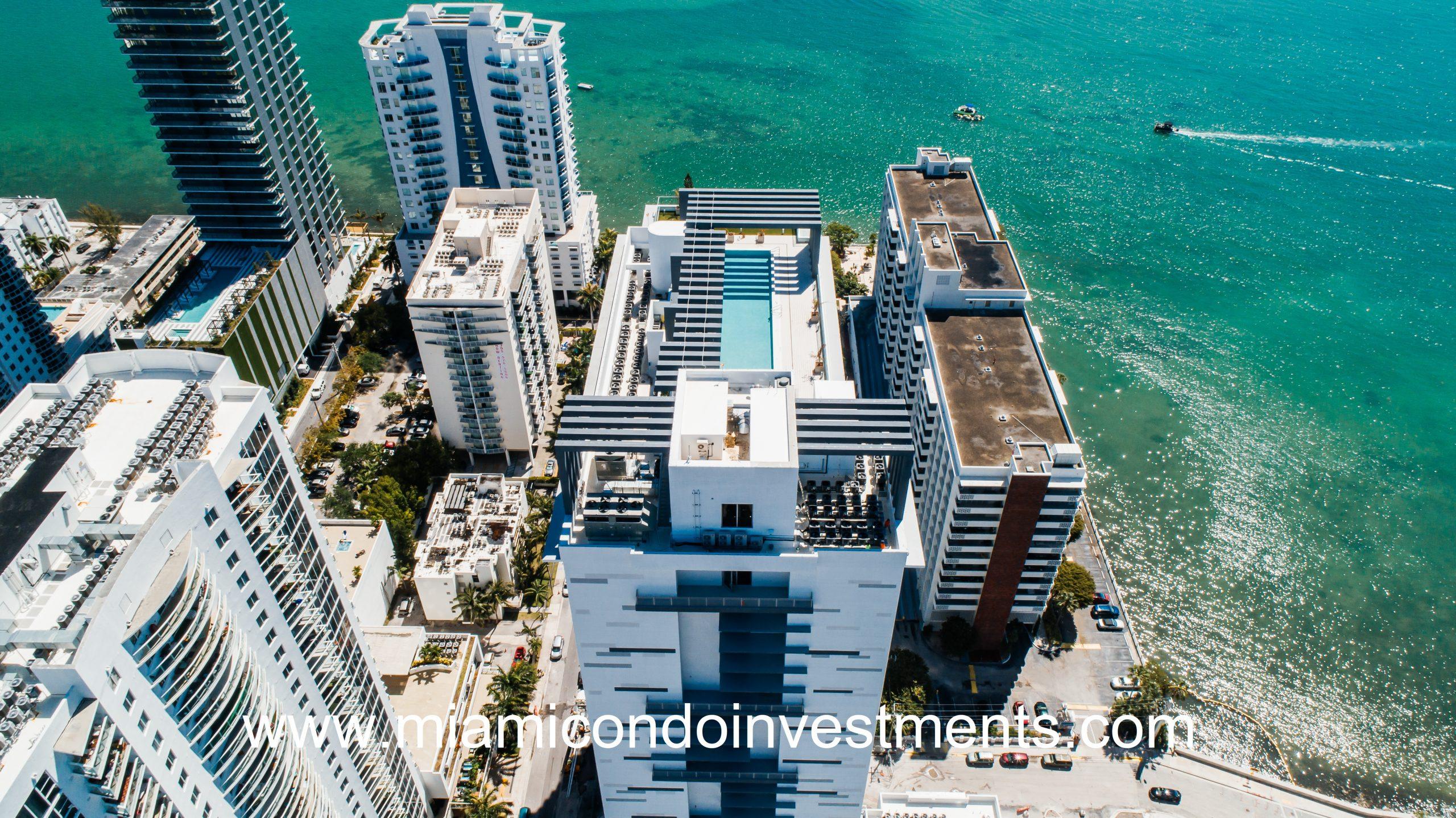 Modera Biscayne Bay Aerial View