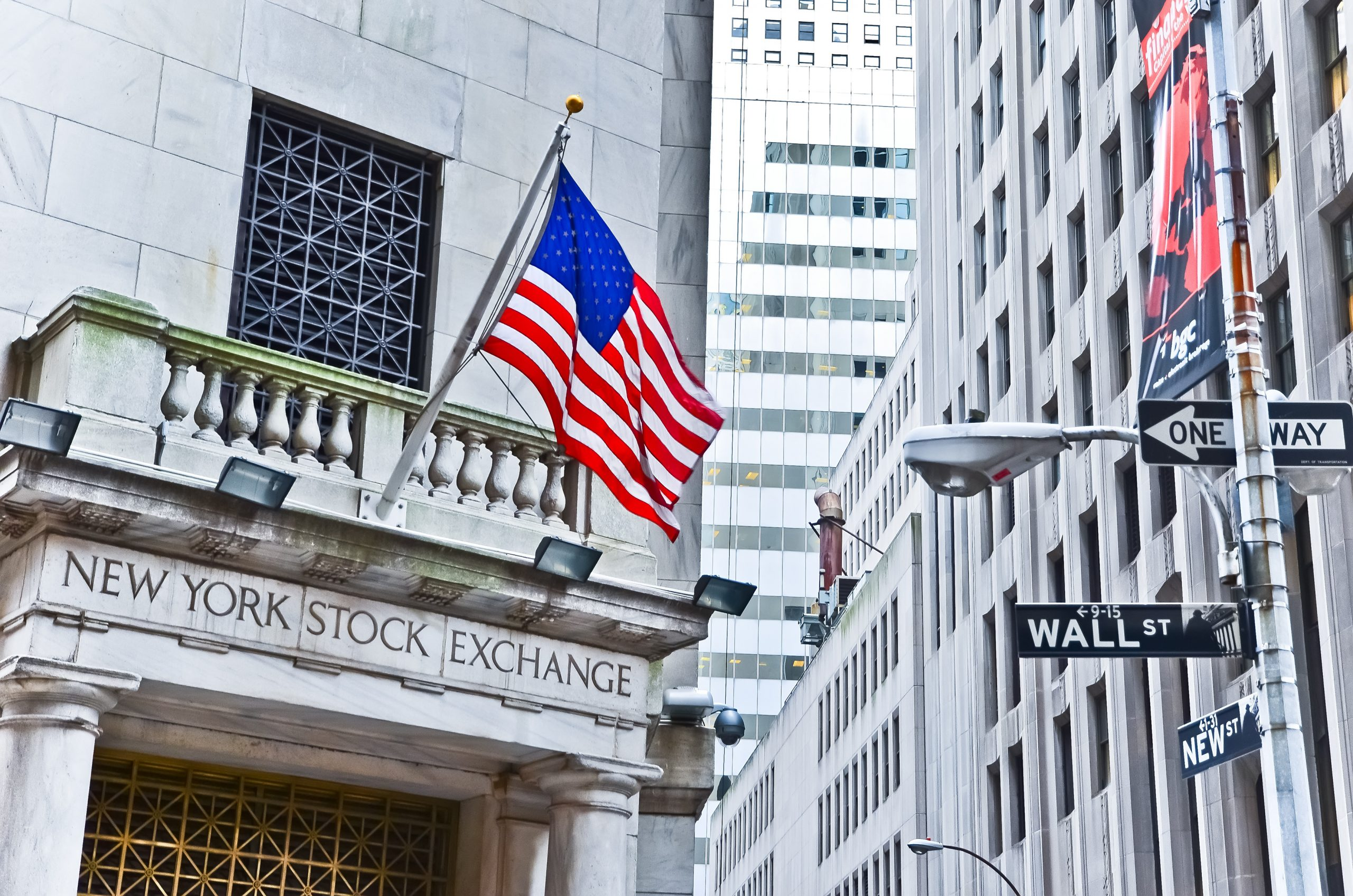 The New York Stock Exchange on Wall Street.