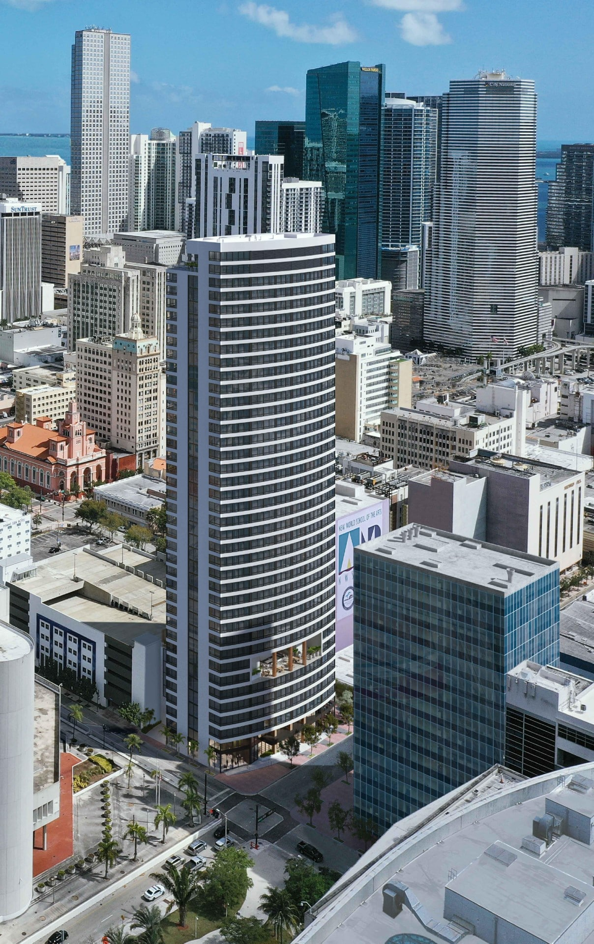 Rendering for the new 37-tower called The District.