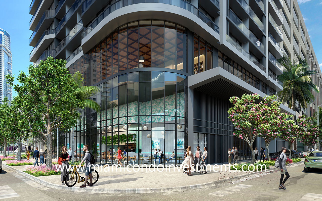 street level view of 501 First Residences