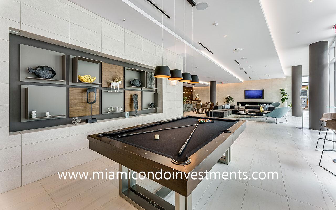 Quadro billiards table in club room