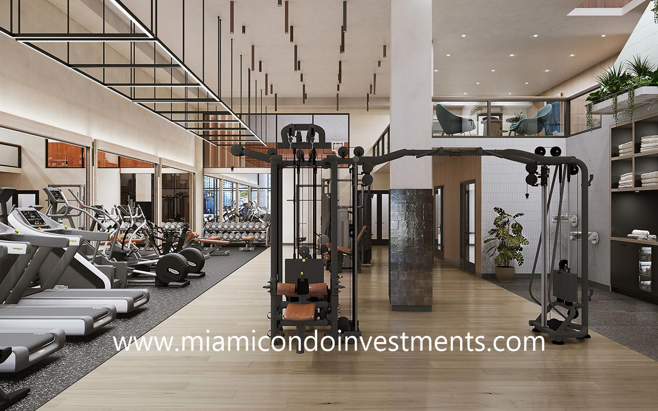 fitness center at The District