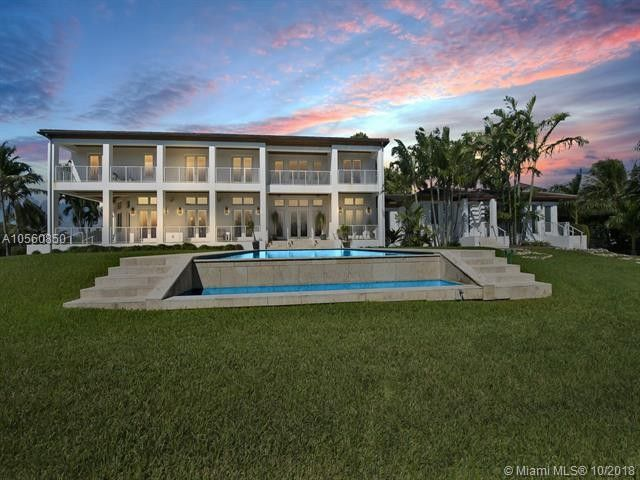 Pool View from Waterfront Mansion in Coral Gables
