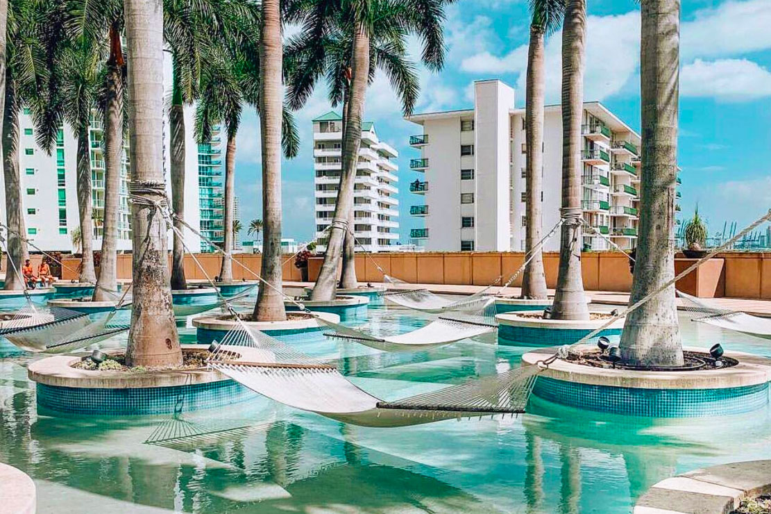 Pool Area and Four Seasons Hotel and Residences