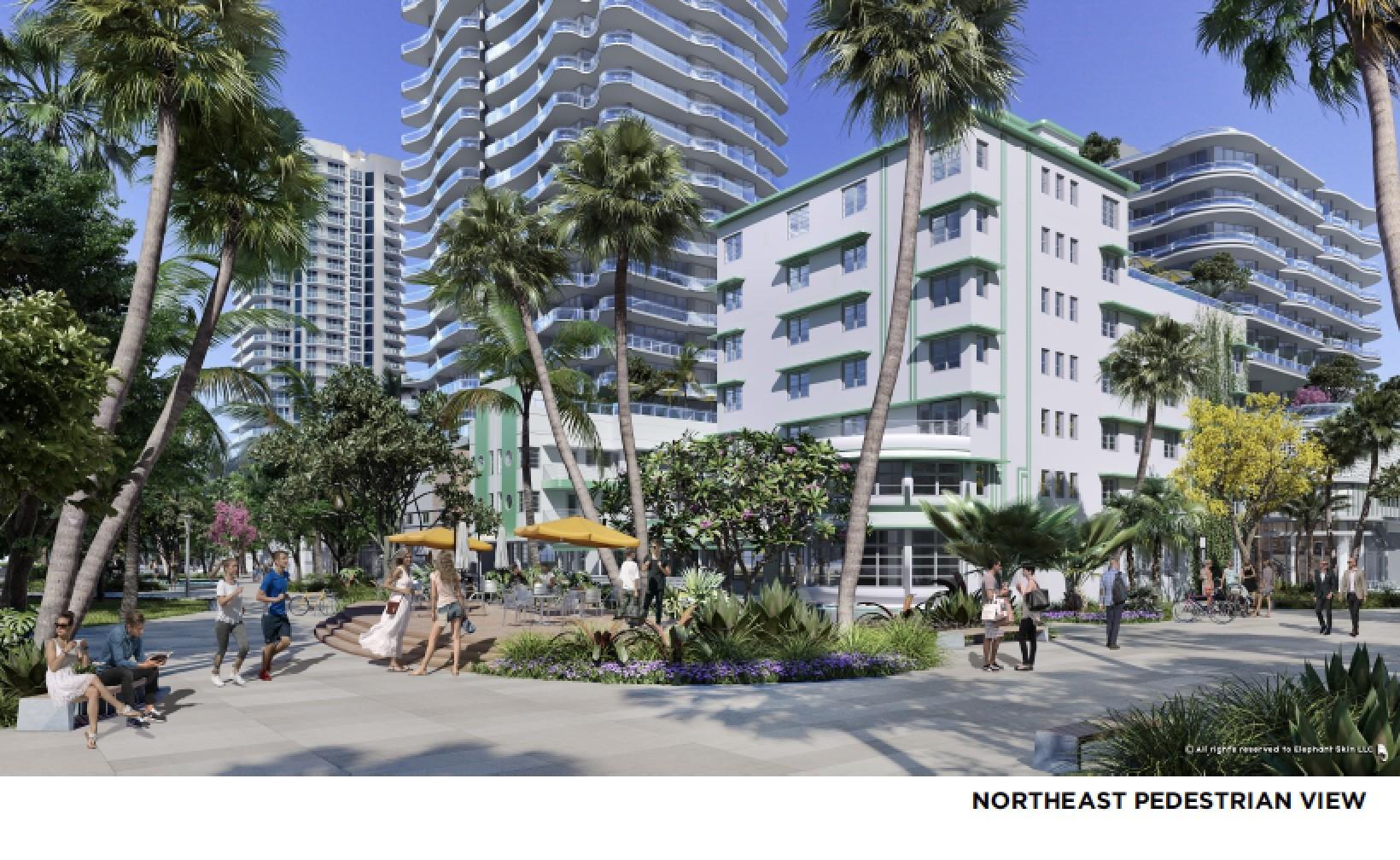 Northeast Pedestrian View of Ocean Terrace
