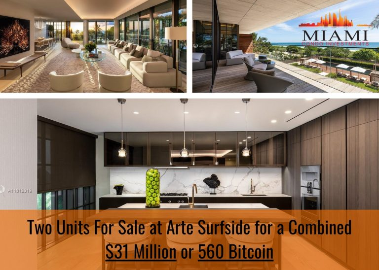 You Can Now Buy Two Arte Surfside Condos for 560 Bitcoin
